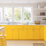 Amazing-Bright-Yellow-Cabinets-In-White-Kitchen