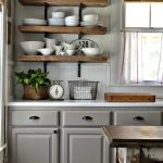 gray-cabinets-rustic-open-shelves-looks-great-together