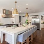 white-kitchen-brass-pendants