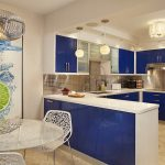 A-bold-shade-of-blue-for-the-kitchen