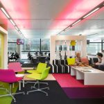 Cozy Office Colorful Seats Charming Office Interior Design